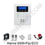 Componentes Kit Alarma GSM+Fijo ECO